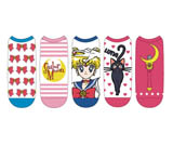 Sailor Moon Ladies Low-Cut Socks 5 Pack