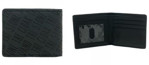 Harry Potter Deathly Hallows Black Bi-Fold Wallet