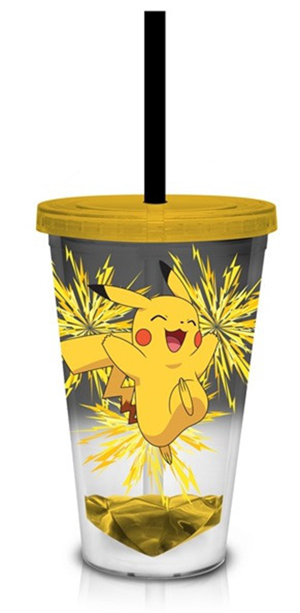 Pokemon Acrylic Pikachu with Injected Bottom 18oz Carnival Cup