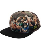 Street Fighter II Group Sublimated Snapback Hat