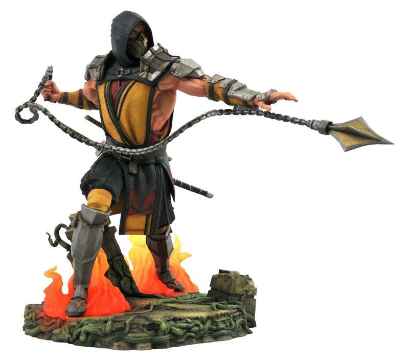 Mortal Kombat 11 Gallery Scorpion Deluxe PVC Statue extra img