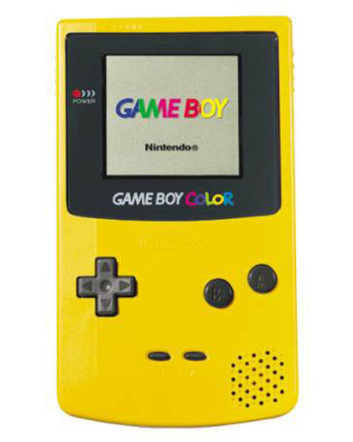 Nintendo Game Boy Color System Dandelion Yellow
