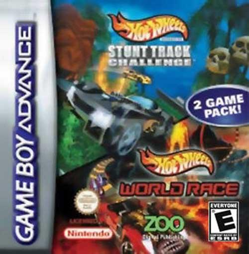 Hot Wheels Stunt Track Challenge/World Race Double Pack