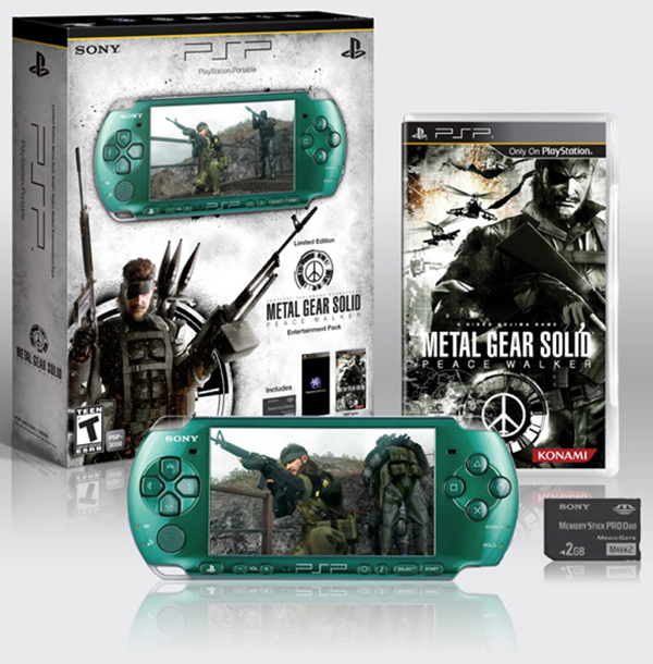 PSP 3000 Metal Gear Solid Peace Walker Bundle