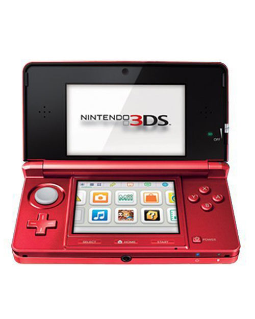 Nintendo 3DS System Flame Red
