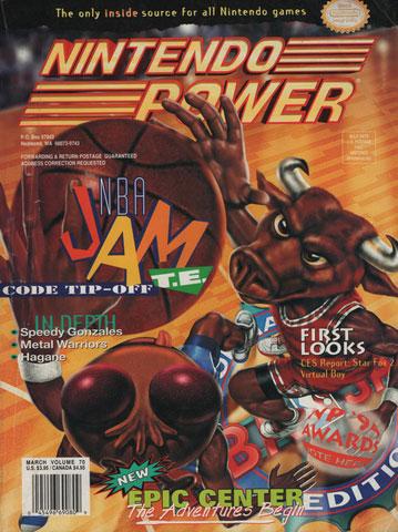 Nintendo Power Magazine Volume 70 NBA Jam T.E.