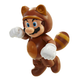 World of Nintendo 4 Inch Tanooki Mario with Coin Action Figure
