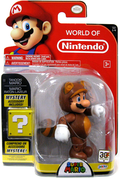 4in. Tanooki Mario with Coin Action Figure