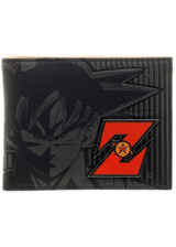 Dragon Ball Z Black Bi-Fold Wallet with Metal Badge