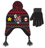 Super Mario Patch Knit Laplander & Glove Set
