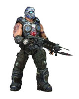 Gears of War 3 Series 1 Clayton Carmine Action Figure