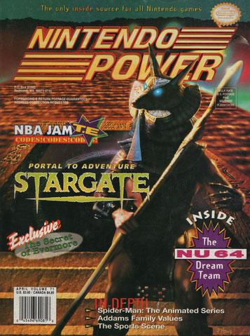 Nintendo Power Magazine Volume 71 Stargate