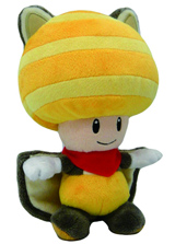 Nintendo Flying Squirrel Toad 8 Inch Yellow Plush
