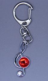 Hatsune Miku: Red Gem Treble Clef Keychain