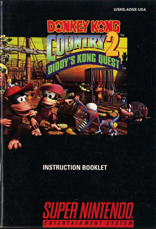Donkey Kong Country 2: Diddy Kong's Quest (Instruction Manual)