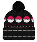 Pokemon Pokeball Fair Isle Pom Beanie