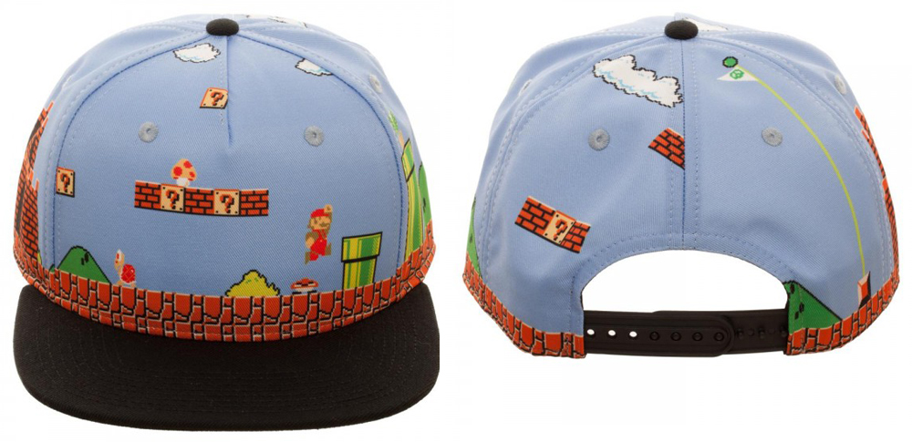 Super Mario 8 bit All Over Scene Snapback