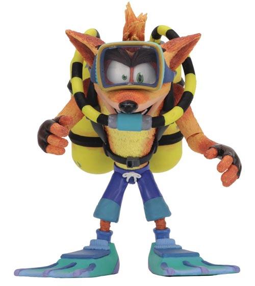 Crash Bandicoot Scuba Crash Deluxe Action Figure