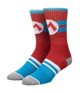 Super Mario Mesh Athletic Crew Socks