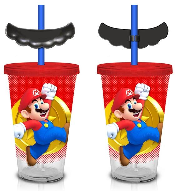 Super Mario Mustache Straw Carnival Cup
