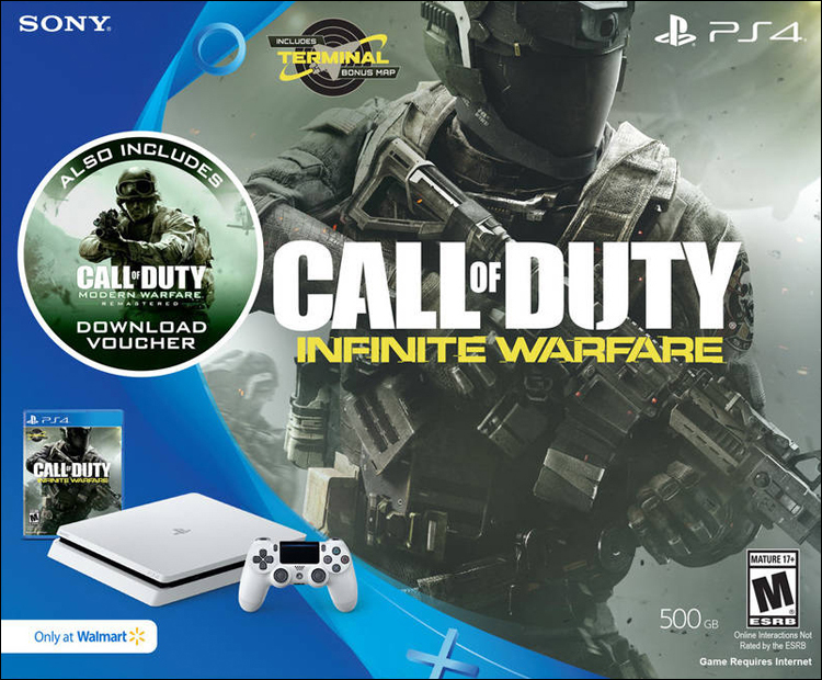 Sony PlayStation 4 Slim Call of Duty: Infinite Warfare White System Bundle