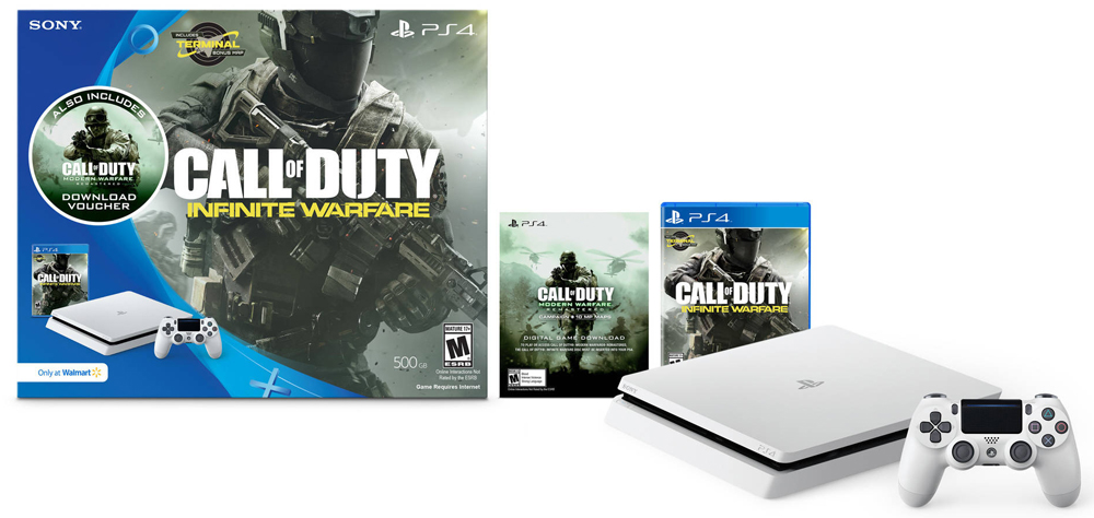 PS4 Slim Infinite Warfare White System Bundle