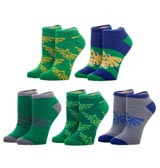 Legend of Zelda Crest Ankle Socks 5 Pack