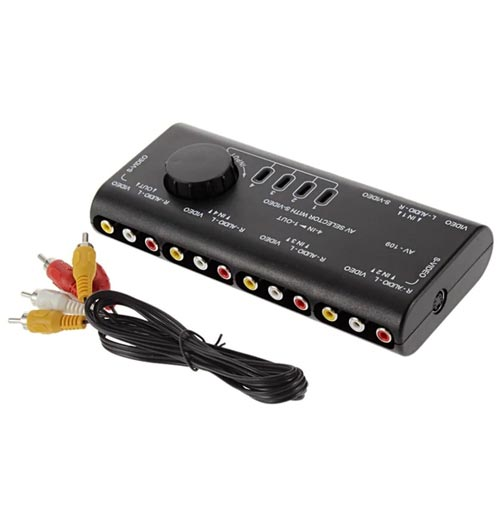 4 in 1 Audio Video Switcher