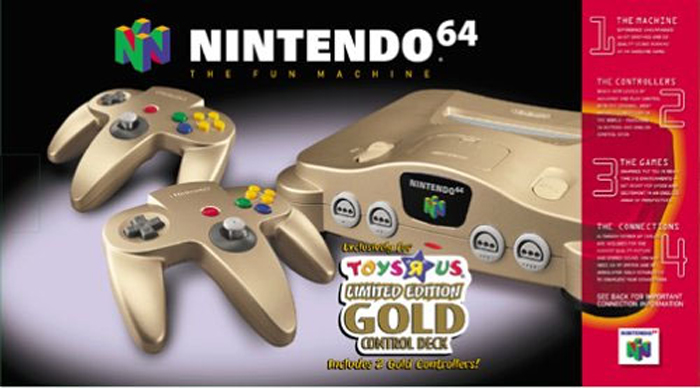 Nintendo 64 Gold Limited Edition System