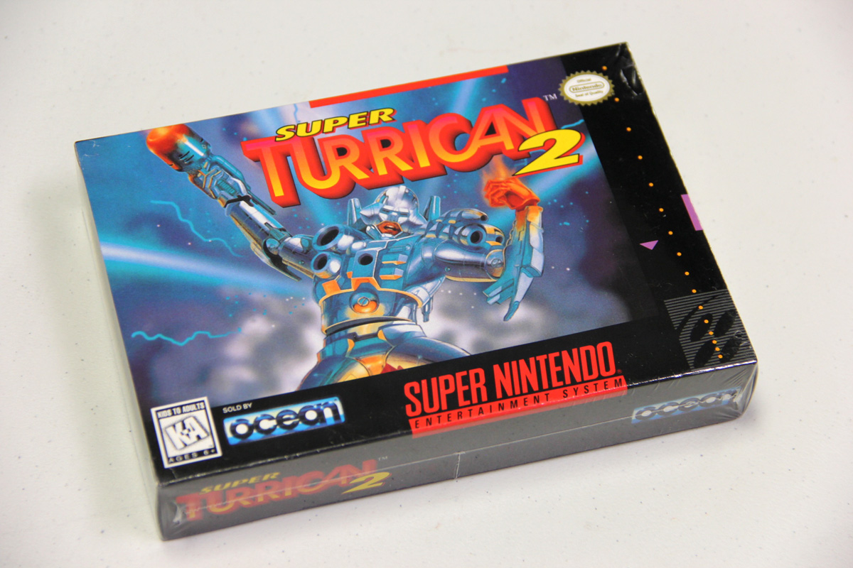 A brand new SNES Super Turrican 2 available for sale