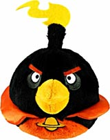 Angry Birds Space 16 Inch Black Bomb Bird Plush