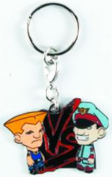 Street Fighter Blue Guile vs Blue M. Bison Enamel Keychain