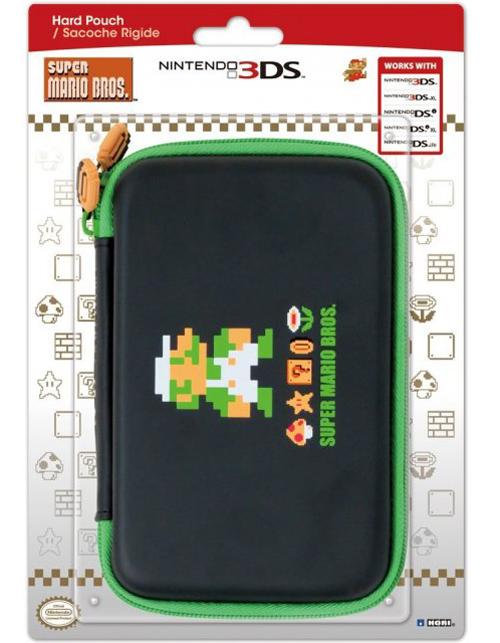 3DS XL Retro Luigi Hard Pouch (Hori)