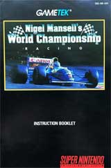 Nigel Mansell's World Championship Racing (Instruction Manual)