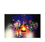 Pikmin Campfire Digital Print