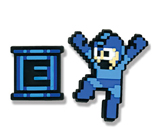 Mega Man X: Mega Man and E-Tank PVC Pin Set