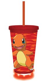 Pokemon Charmander LED Carnival Tumbler With Lid