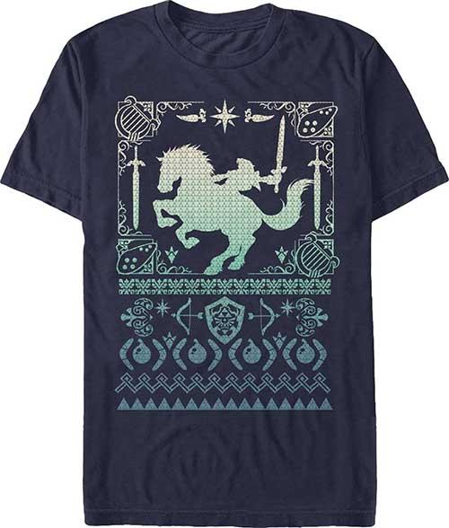 Legend of Zelda Silhouette Navy T-Shirt Large