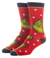 Dr Seuss The Grinch Crew Socks 3 Pack