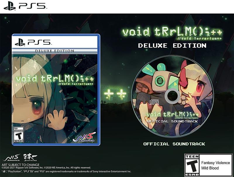 PS5 Void Terrarium Plus Plus Delux Ed with bonus soundtrack CD