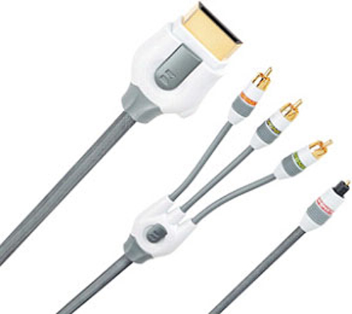 Xbox 360 Component Video & Fiber Optic Audio AV Kit by Monster Cable