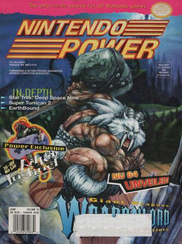 Nintendo Power Magazine Volume 73 Weaponlord
