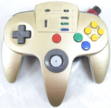 N64 ASCII Pad Controller Gold