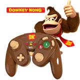 Wii U Donkey Kong Wired Fight Pad