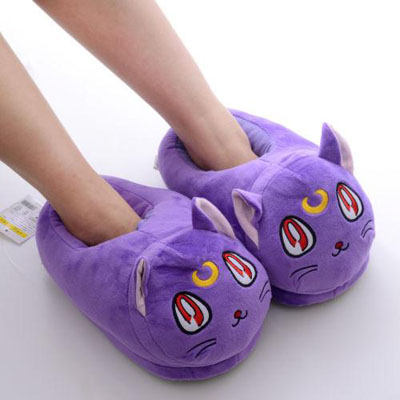 Sailor Moon Luna Slippers Modeled