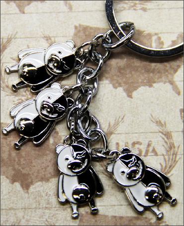 Dangan Ronpa Silver Charms Keychain