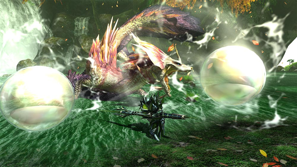 Monster-Hunter-in-fight-with-a-monster