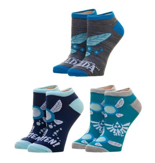 Legend of Zelda Navi Ankle Socks 3 Pack