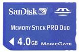PSP 4GB Memory Stick Pro Duo
