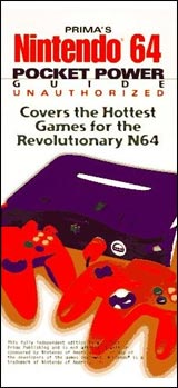 Nintendo 64 Pocket Power Strategy Guides Book (Unauthorized)
